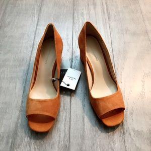 Zara Shoes - ZARA  Open Leather Heel Shoes:Mustard, US 8/EUR 39